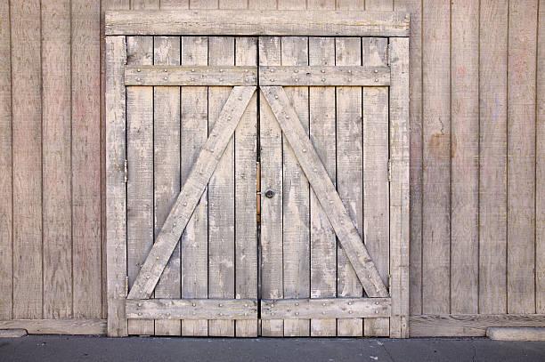 Doorway of wood stock photo