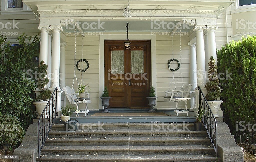 Doorway to an Old Home royalty-free stock photo