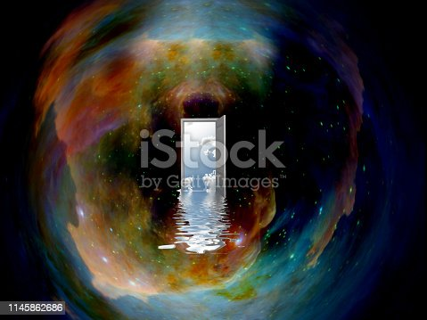 Doorway to another world in the space