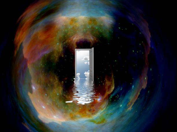 deuropening naar een andere wereld - parallel stockfoto's en -beelden