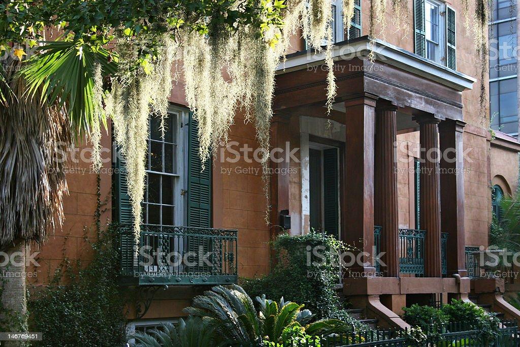 Doorway to Historic Building stock photo