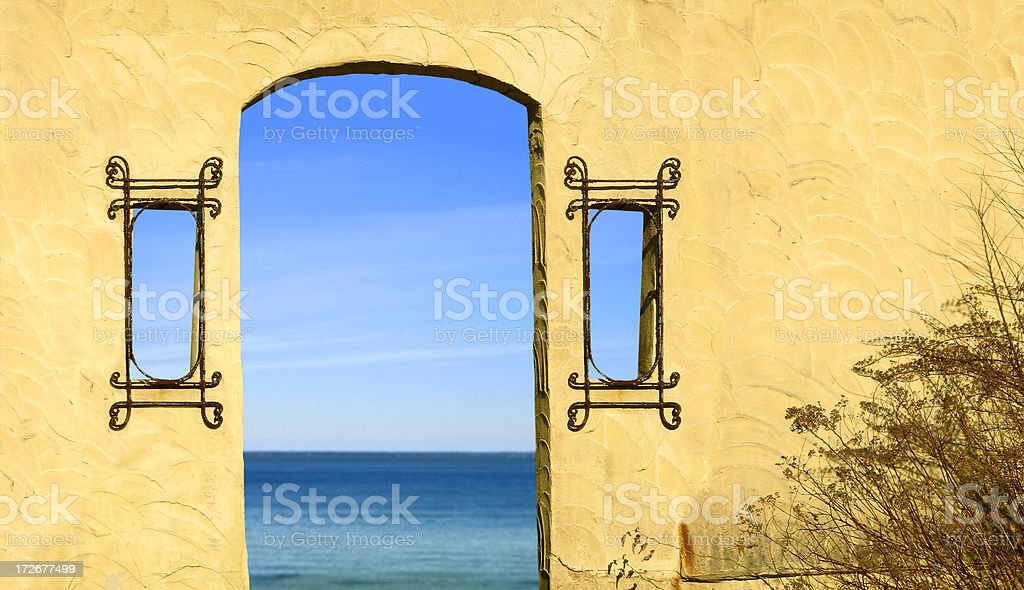 Doorway to the Sea royalty-free stock photo