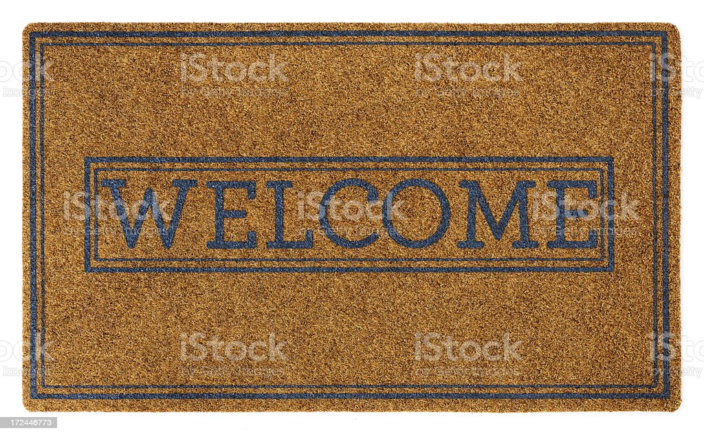 Doorway Welcome Mat Isolated on White royalty-free stock photo