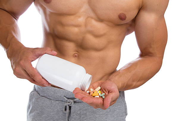 Doping anabolic pills bodybuilder bodybuilding muscles strong muscular – Foto
