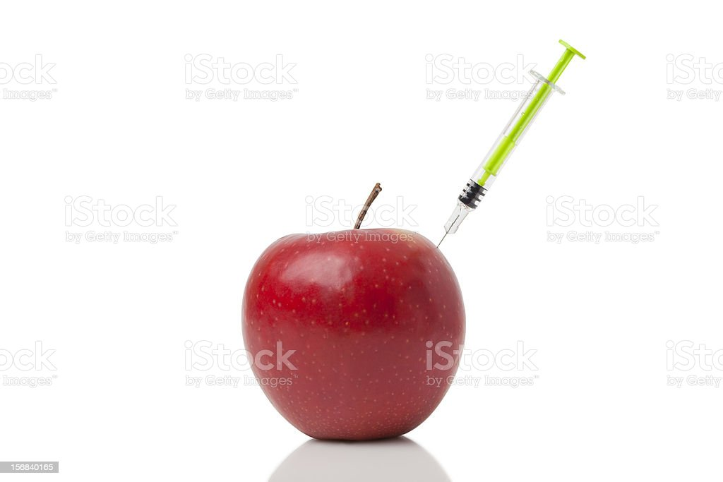Doping Apple royalty-free stock photo
