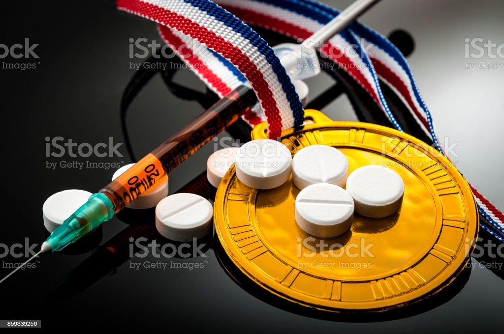 Doping im Sport und Steroid-Missbrauch-Konzept – Foto