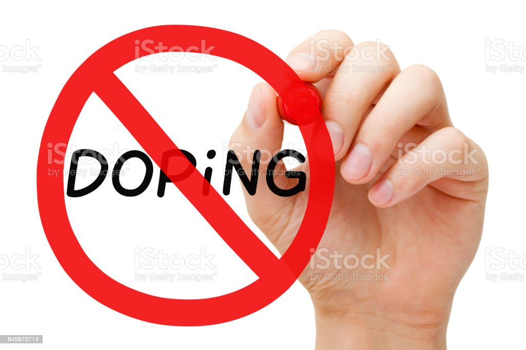 Doping Prohibition Sign Concept stock photo