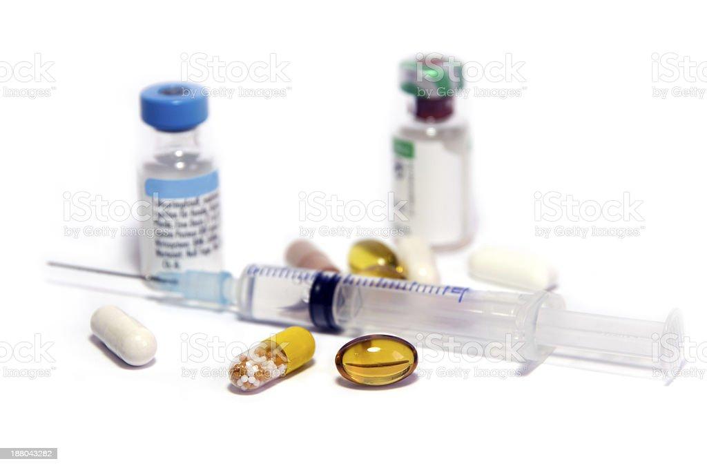 doping syringe royalty-free stock photo