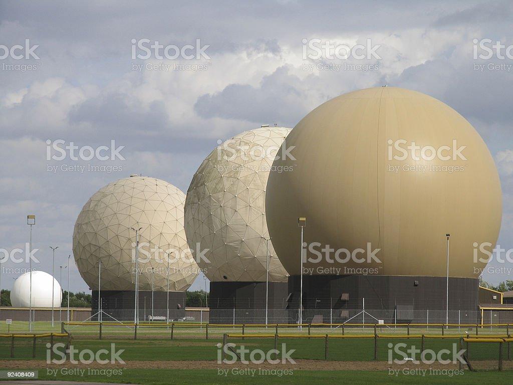 Doppler Radar Weather Spheres royalty-free stock photo