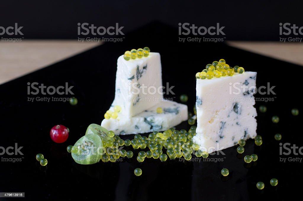 Dor Blue and honey caviar stock photo