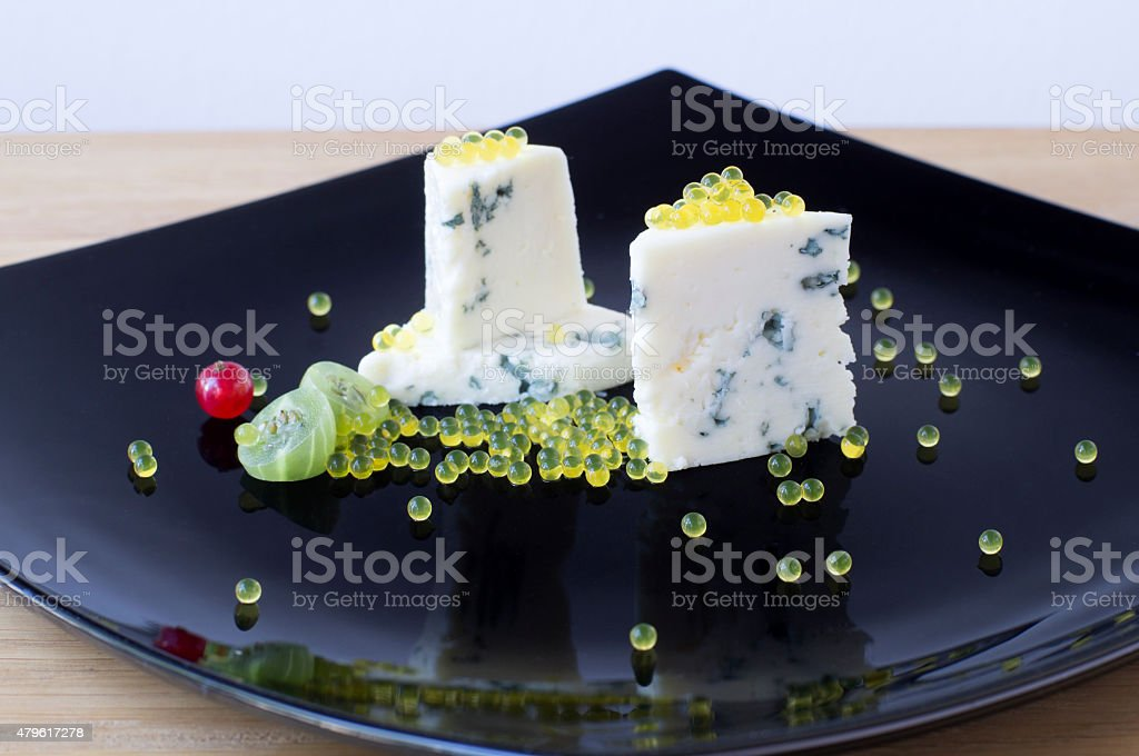 Dor Blue and honey caviar stock photo