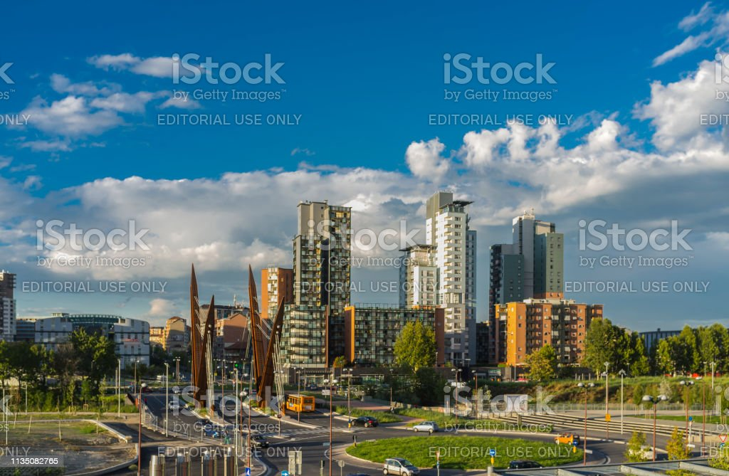 Dora district, born where once there were large industrial plants stock photo