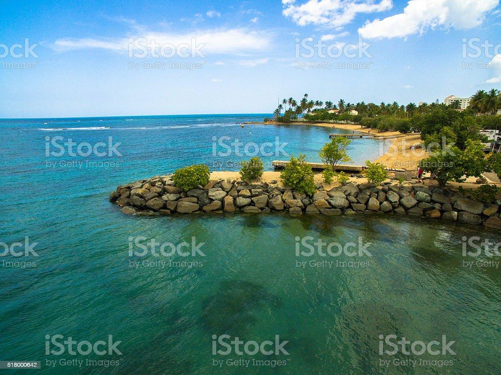 Dorado Beach Puerto Rico stock photo