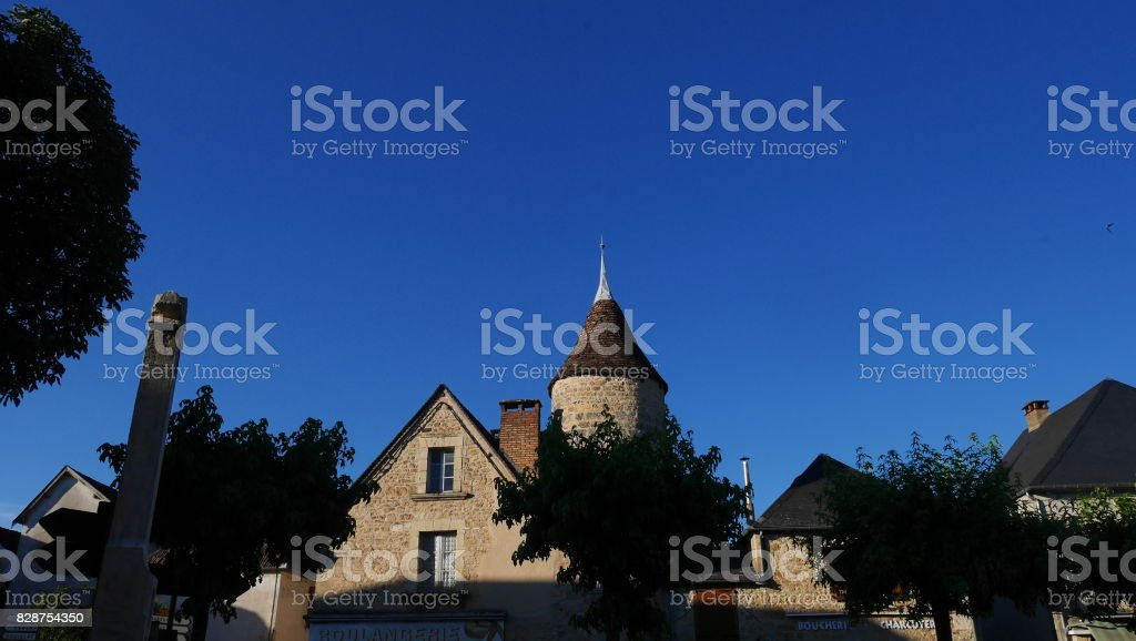 architecture maison de dordogne stock photo