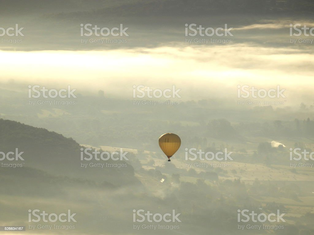 Dordogne Landscape at Sunrise stock photo