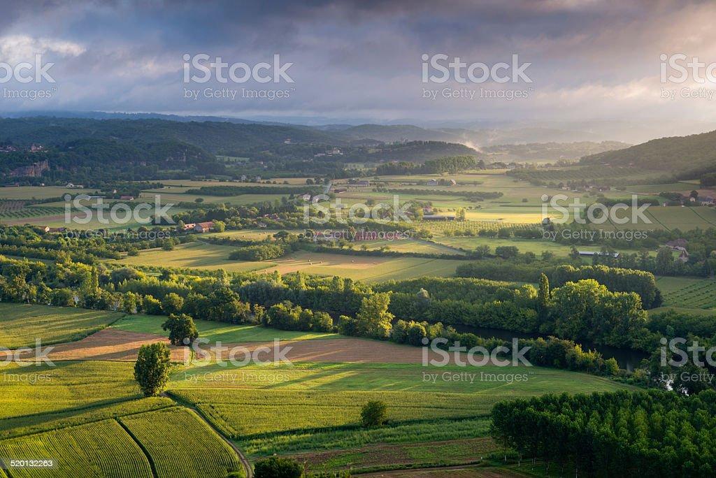 Dordogne valley stock photo