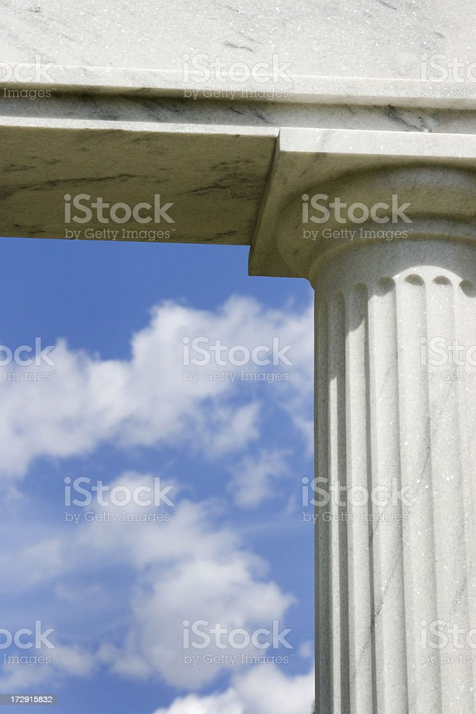Doric Column and Sky royalty-free stock photo