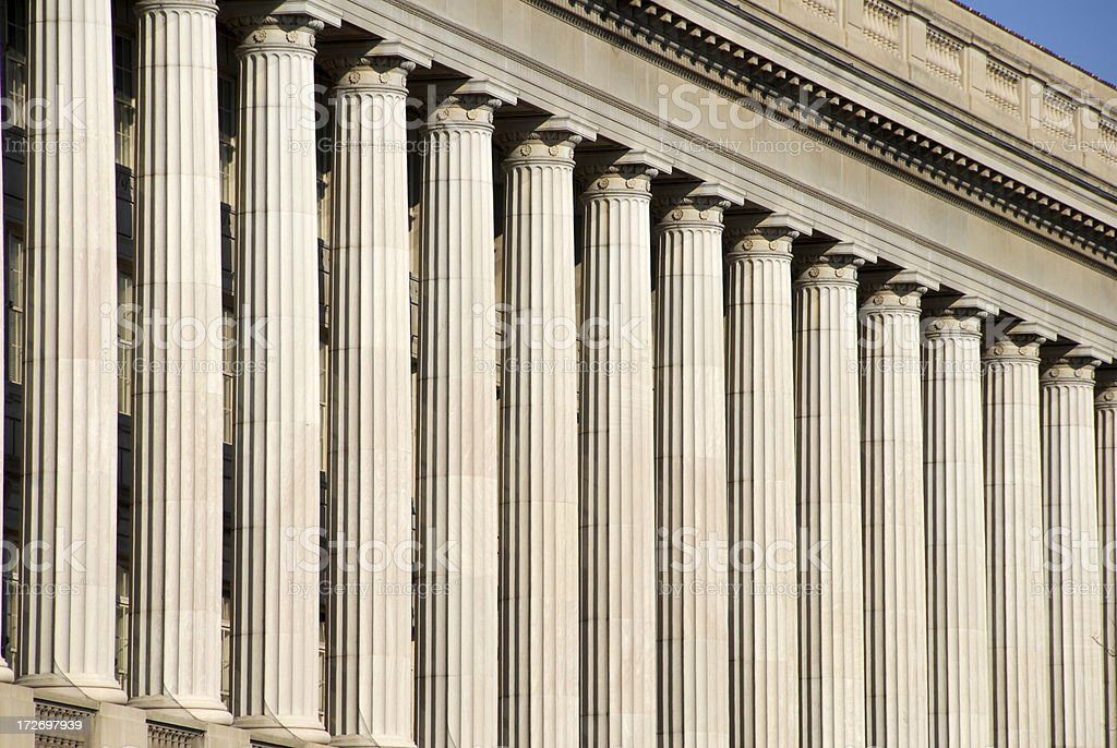 Doric Columns in a Pattern stock photo