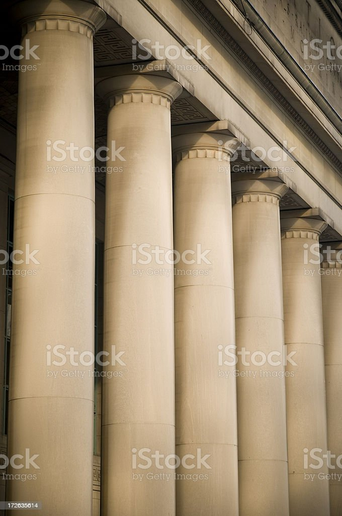 Doric columns royalty-free stock photo