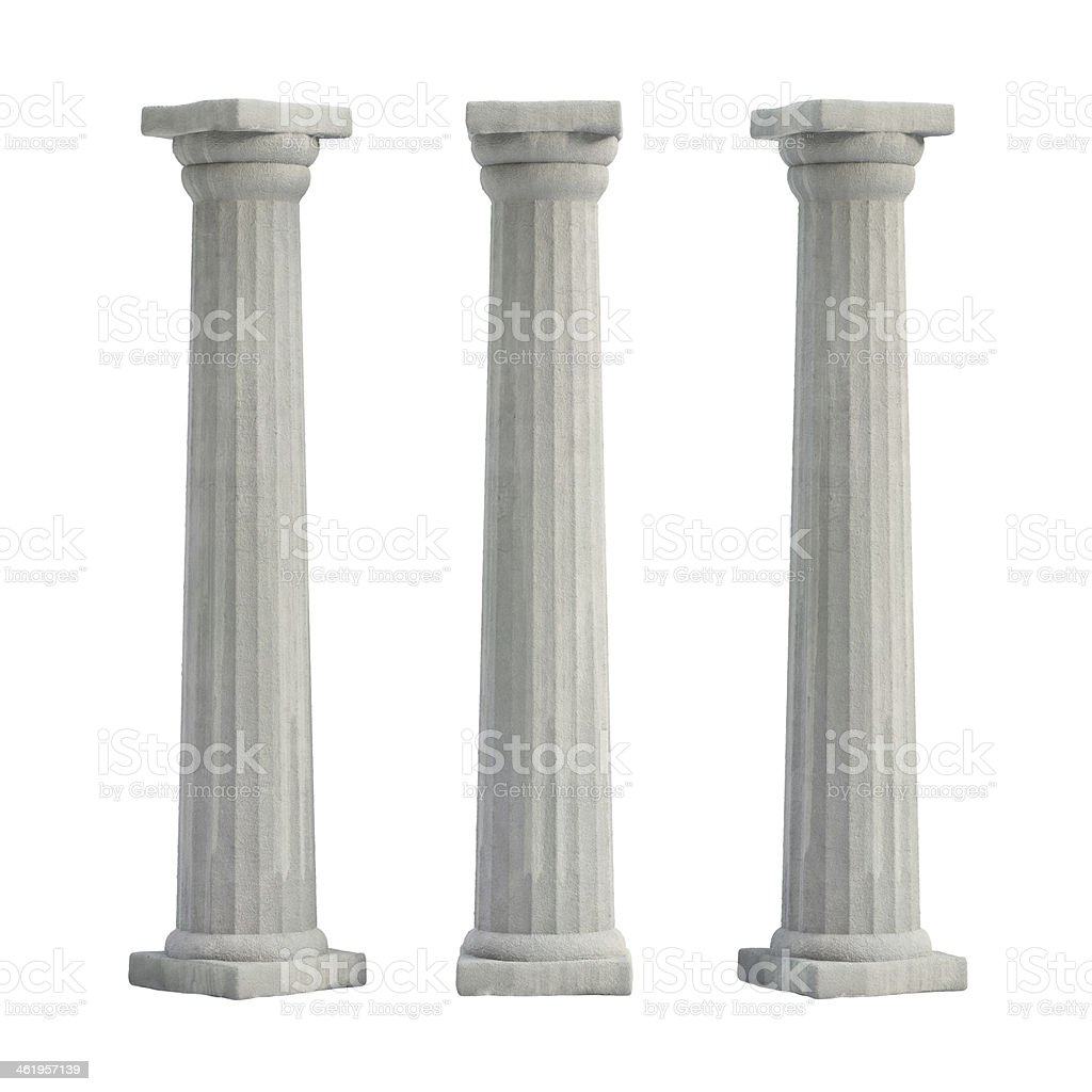 Doric Columns stock photo