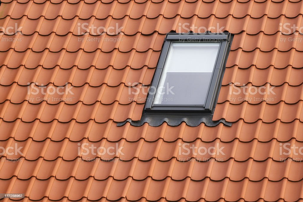 Dormer Roof with red tiling and dormer Architectural Feature Stock Photo