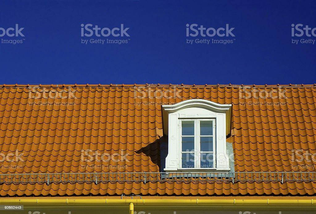 Dormer roof window royalty-free stock photo