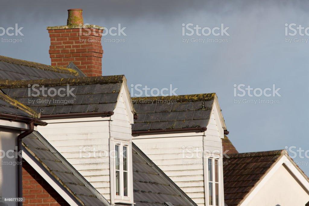 Dormer Roof Windows Loft Structures On Modern Town House