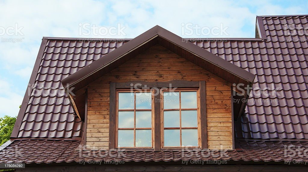 dormer windows royalty-free stock photo
