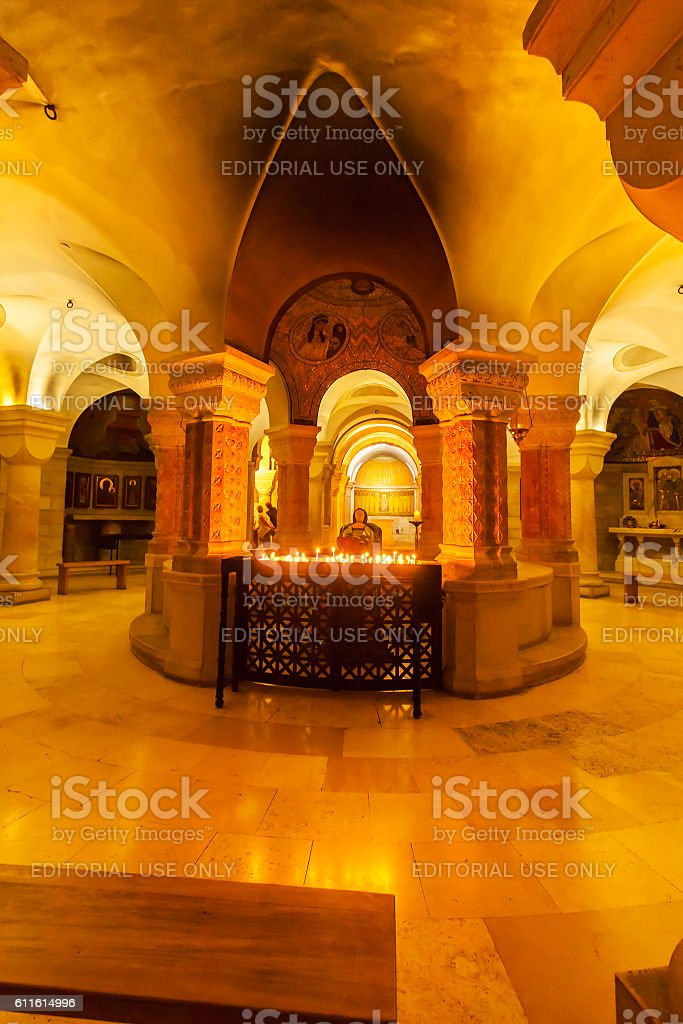 Dormition Abbey church interior. Old town. Jerusalem. Israel - foto de stock