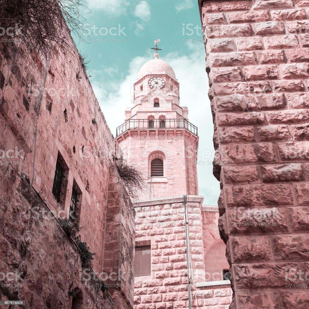 Dormición abadía. Pueblo Viejo. Jerusalén. Israel - foto de stock