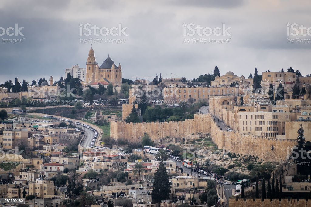 Dormition abbey in focus royalty-free stock photo