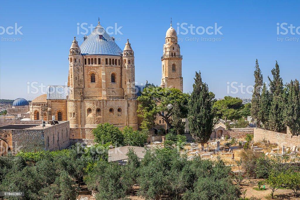 Dormición Abbey en Jerusalén, Israel. - foto de stock
