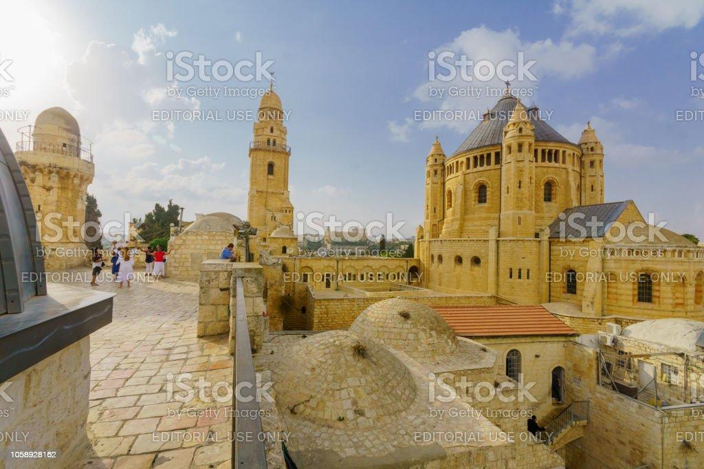 Abadía de la Dormición, en Jerusalén - foto de stock