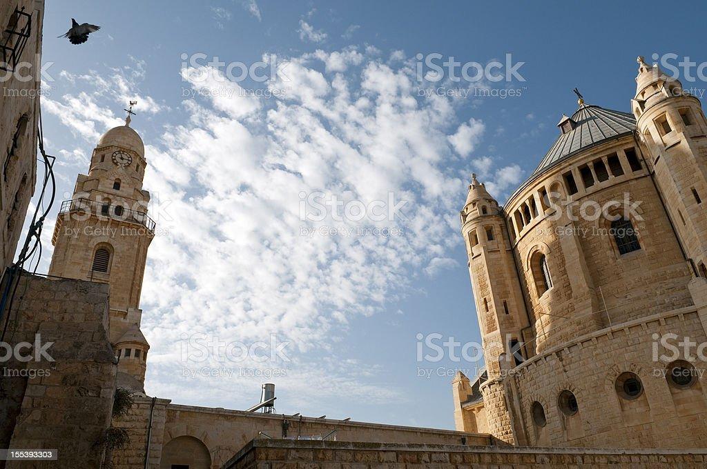 Dormición Abbey en Jerusalén - foto de stock
