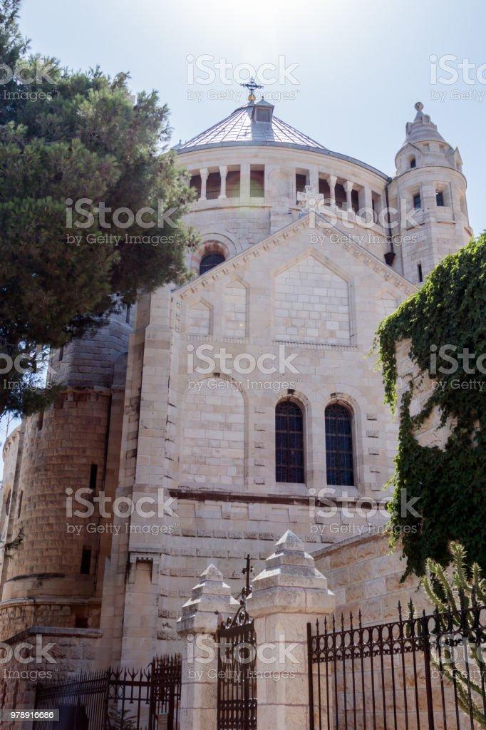Abadía de la Dormición en la vieja ciudad de Jerusalén, Israel - foto de stock