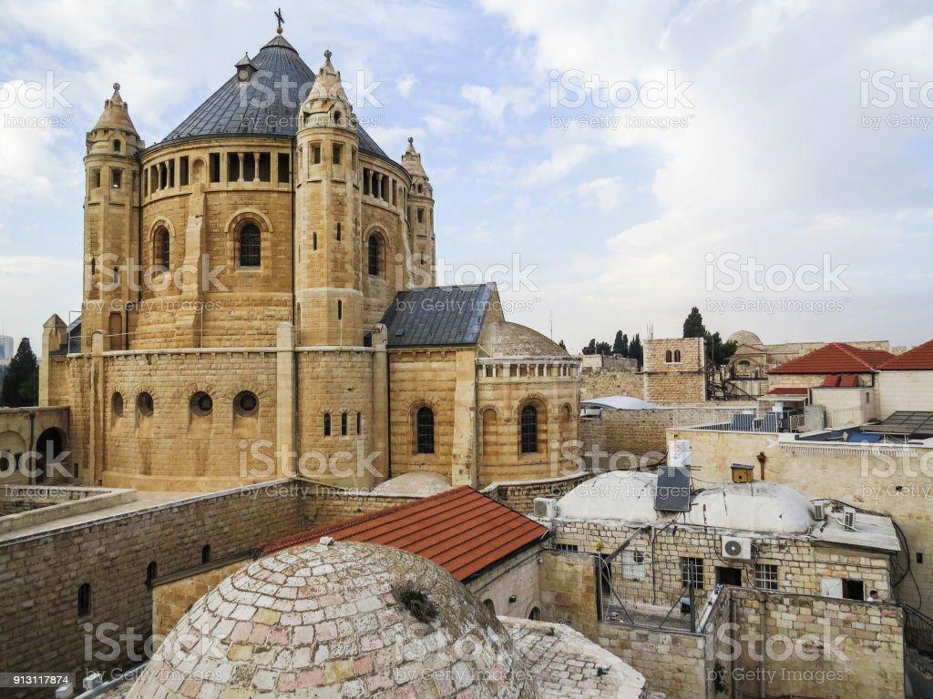 Abadía de la Dormición, Jerusalén, Israel - foto de stock