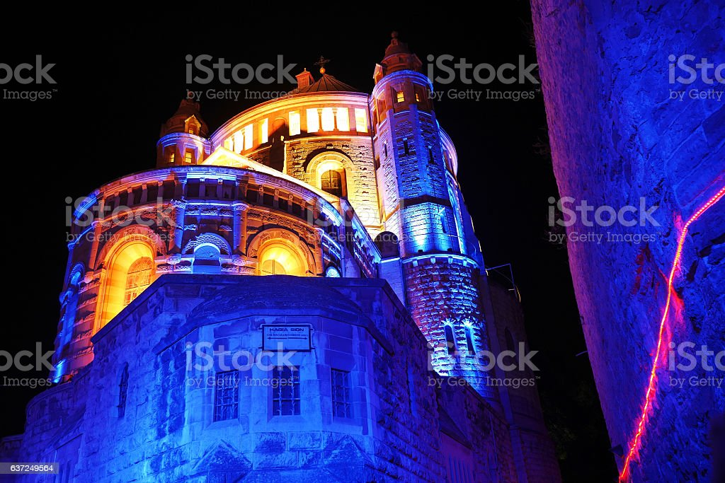 Dormition Abbey, Night Illuminated - foto de stock