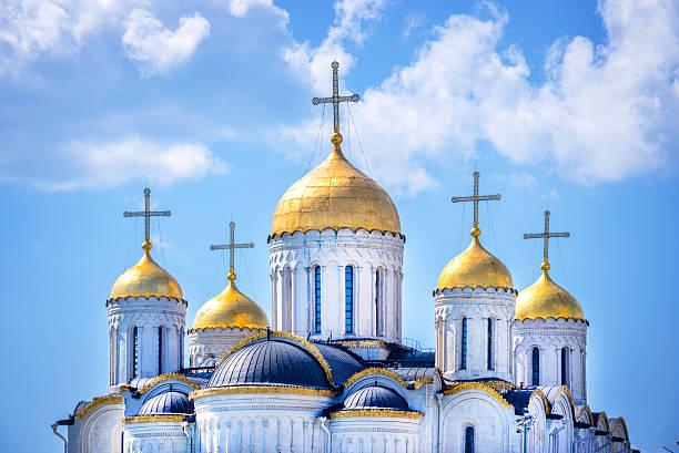dormition cathedral, in vladimir, golden ring, russia - ferragosto foto e immagini stock