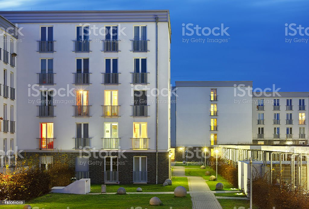 Dormitory At Night stock photo