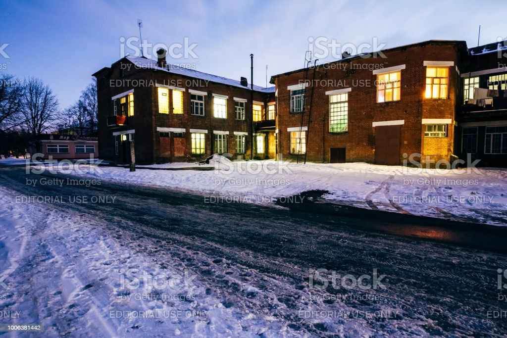 Dormitory Of Paper Mill Workers Dobrush Belarus Stock Photo & More