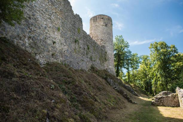 dorneck castle - dornach stock-fotos und bilder