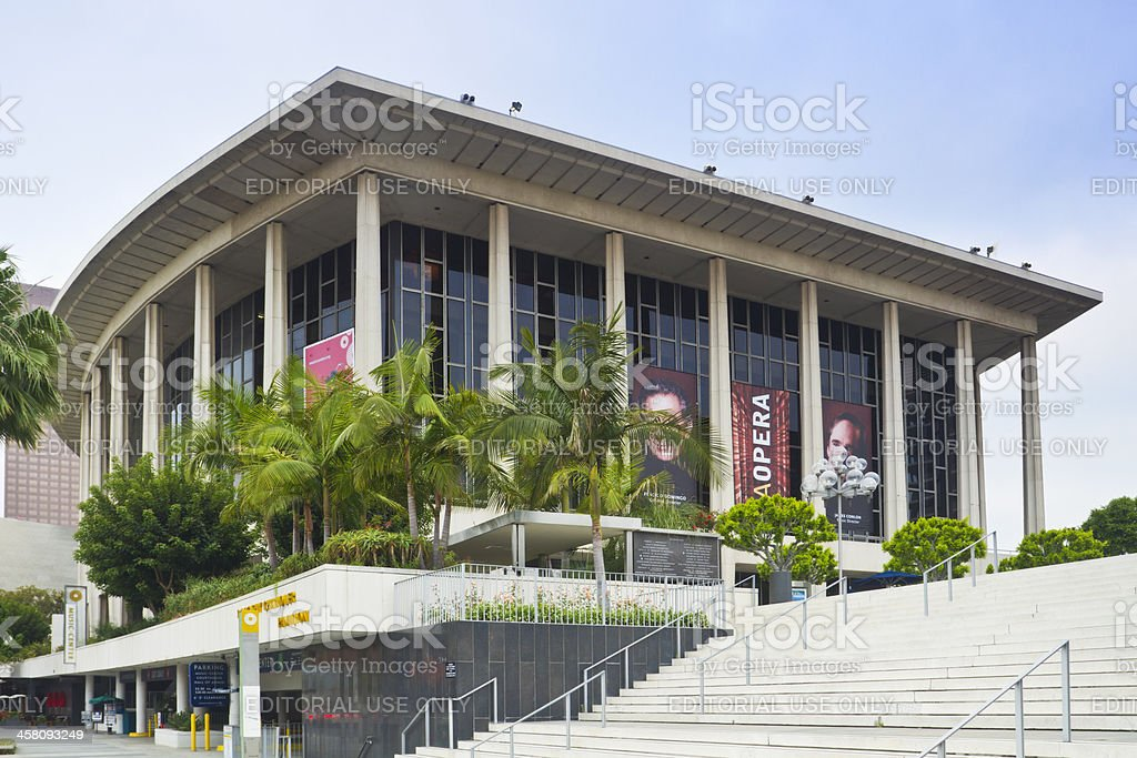 Dorothy Chandler Pavilion in Los Angeles stock photo