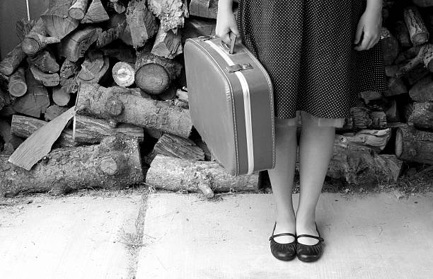 dorothy is leaving 2 in b/w stock photo