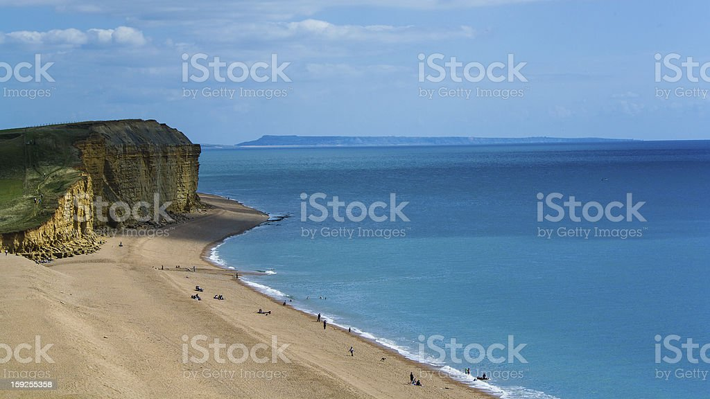 Dorset beach UK royalty-free stock photo