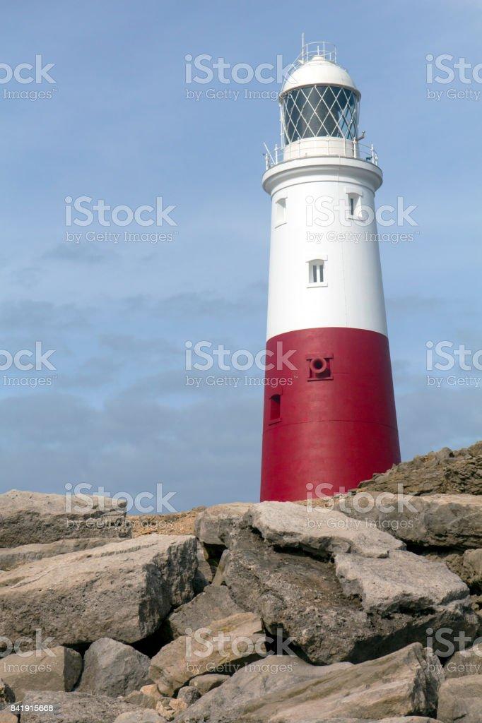 Dorset Caost UK - Portland Bill Lighthouse stock photo