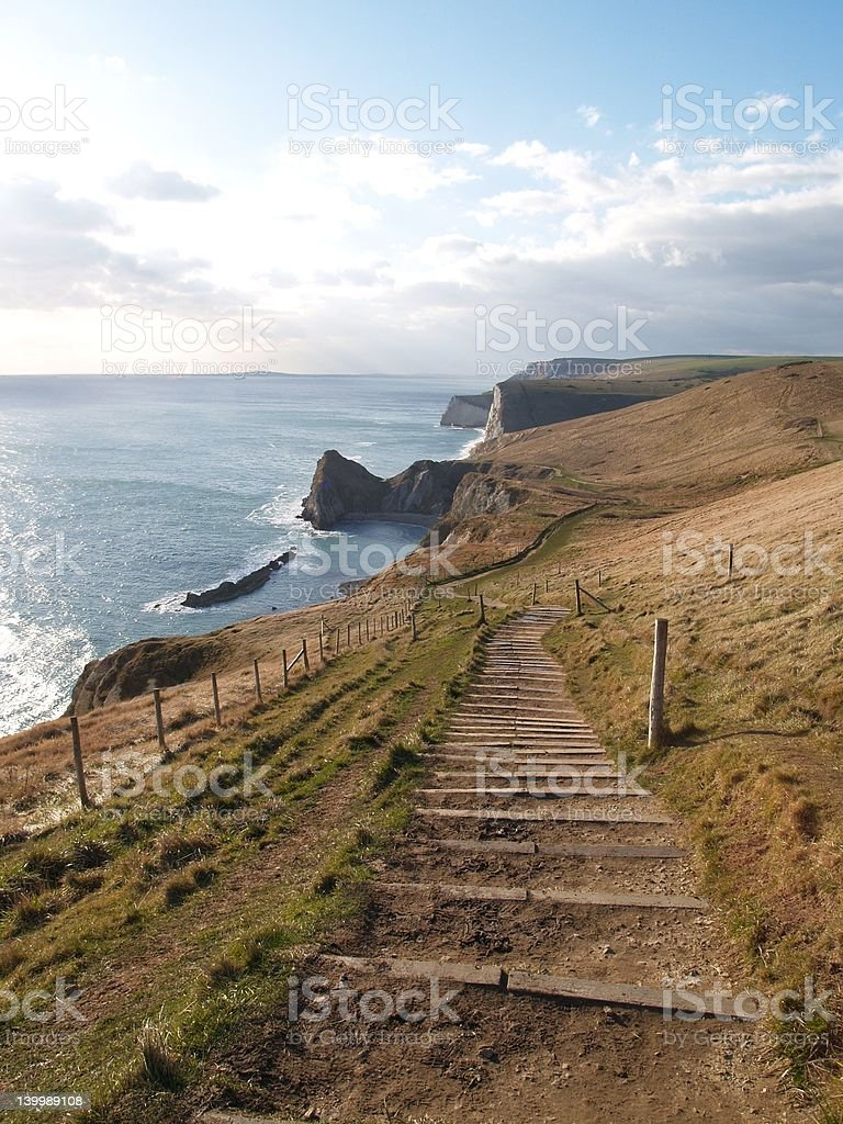 Dorset Coast Path stock photo