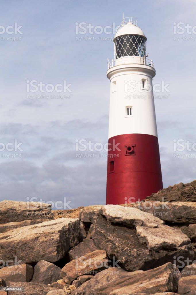 Dorset Coast UK - Portland Bill Lighthouse stock photo