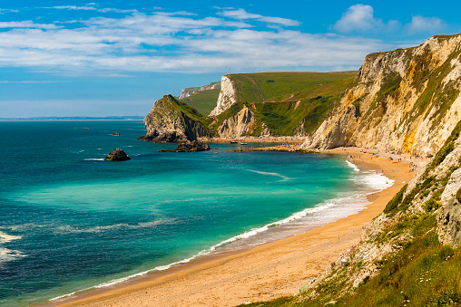 Dorset Coastline on a hot summer day