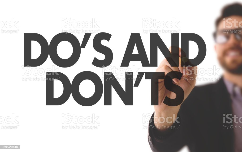 Do's and Don'ts stock photo