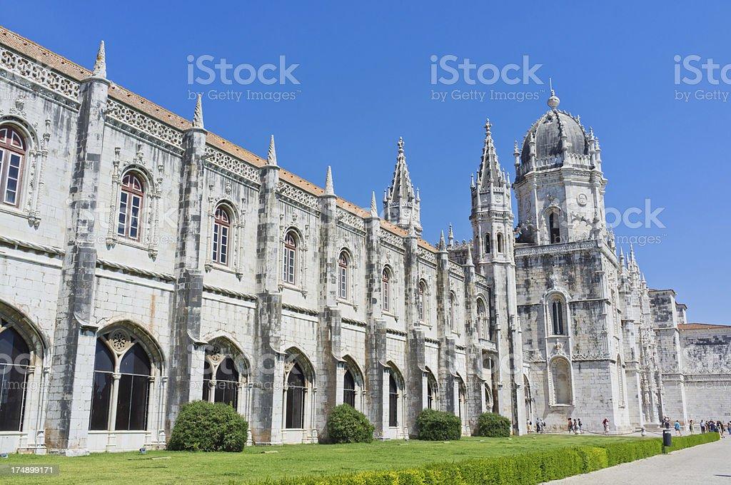 Dos Jeronimos Monastery exterior facade stock photo